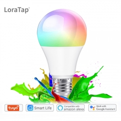 Tuya Smart Life APP Dimmable E27 WiFi RGB LED Bulb Light Voice Control by Echo Alexa Google Assistant 2.4G WiFi Timer Control