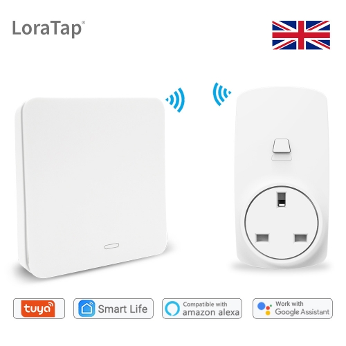 Wifi Socket Tuya Smart Life UK Plug Voice Control Google Home Alexa Echo Wireless Switch Remote Control No Battery Needed