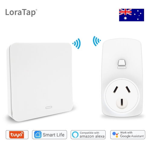 Wifi Socket Tuya Smart Life AU Plug Voice Control Google Home Alexa Echo Wireless Switch Remote Control No Battery Needed
