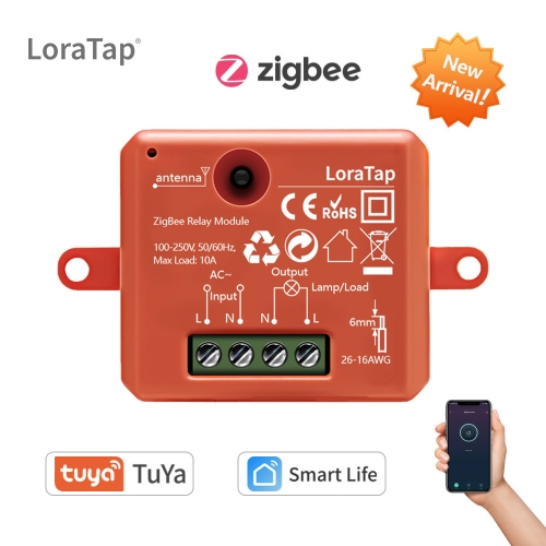 Tuya ZigBee 3.0 Smart Life Socket Module Wireless Remote Control, Work with Echo Alexa Google Home Voice Assistant DIY Relay