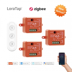 Tuya ZigBee 3.0 Smart Life Socket Module Wireless Light Switch Remote Control Kit Work with Echo Alexa Google Home Voice Control